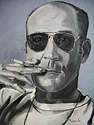 Gonzo Posters - Hunter Thompson Poster by Mary Capriole