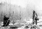 Pioneers Photos - Hunting Camp Winter 1887-88 -- South Dakota by Daniel Hagerman