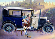 Cars Painting Framed Prints - Hunting For Love Framed Print by Mike Hill