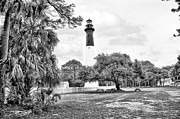 Palmetto Trees Framed Prints - Hunting Island Lighthouse Framed Print by Scott Hansen