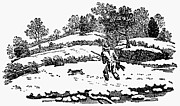 Bewick Metal Prints - HUNTING: WINTER, c1800 Metal Print by Granger