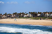 Southern Homes Framed Prints - Huntington Beach California Framed Print by Paul Velgos