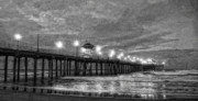 Orange County Art - Huntington Beach Pier at Dawn by Ron Regalado