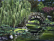 Japanese Tea Garden Paintings - Huntington Tea by Lisa Reinhardt
