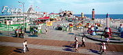 Flyer Prints - Hunts Pier Wildwood New Jersey Sixties Panorama Photograph Print by Retro Views