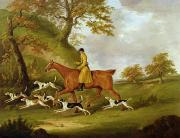 Hound And Hunter Posters - Huntsman and Hounds Poster by John Nott Sartorius