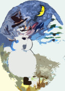 Snowscape Digital Art - Hurray the Frosty by Mindy Newman
