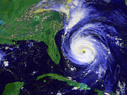 Satellite View Posters - Hurricane Fran Poster by Stocktrek Images