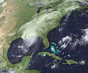 Natural Disaster Photos - Hurricane Katrina Over Southeast by Everett