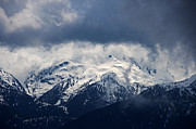 Snow-covered Landscape Photo Prints - Hurricane Ridge Print by Mike DeCesare