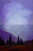 Olympic Mountain Posters - Hurricane Ridge - Olympics Poster by Jeff Burgess