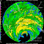Hurricane Rita, Wfo Radar, 2005 Print by Science Source