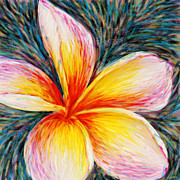 Plumeria Paintings - Hurt Filling by Atiketta Sangasaeng