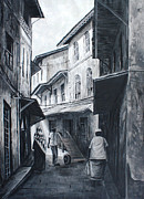 Ally Painting Framed Prints - Hurumzi Street Framed Print by Sele