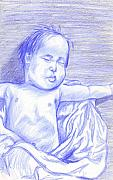Blanket Drawings Prints - Hush Little Baby Print by Jean Haynes