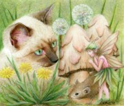 Hush Little Mouse Print by Karen Hull