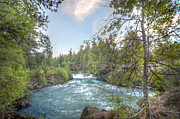 White Salmon River Prints - Husum Falls at Dusk Print by Kevin Felts