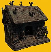 Tribal Art Sculptures - Hut  by Govind Zara