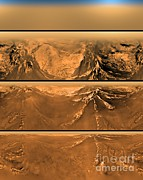 Titan Framed Prints - Huygen Probes View Of Titan Framed Print by Nasa