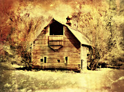Barn Digital Art Metal Prints - Hwy 20 Barn Metal Print by Julie Hamilton