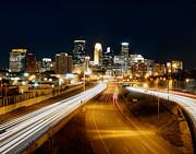 Minneapolis Skyline Posters - Hwy to Home Poster by Michael Klement