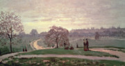 Promenade Prints - Hyde Park Print by Claude Monet