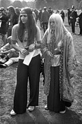 1969 Music Festival Framed Prints - Hyde Park Hippies Framed Print by Ian Showell