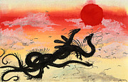 Oriental Style Paintings - Hydra by Sydney Zmitrewicz