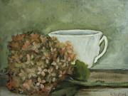 Rena Buford - Hydrangea and teacup