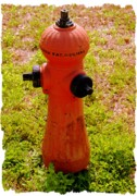 Fire Framed Prints - Hydrant 1885 Framed Print by Andrew Armstrong  -  Orange Room Images