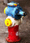 John Digital Art - Hydrant Greeting Card by John Rizzuto