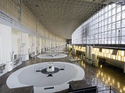 Hydroelectric Prints - Hydroelectric Power Station Turbine Room Print by Ria Novosti
