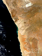 Sulfide Gas Posters - Hydrogen Sulfide Eruption Off Namibia Poster by Nasa