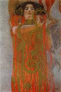 Detail Painting Prints - Hygieia Print by Gustav Klimt