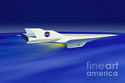 Hyper Posters - Hyper-x Hypersonic Aircraft Poster by Science Source