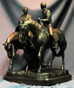 Joseph Sculptures - Hyrum and Joseph Smith Jr. Nauvoo Statue Bronze one fifth life size sculpture by Kim Corpany