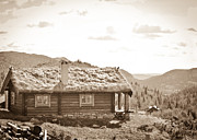Cabin Wall Prints - Hytte Print by Christina Klausen