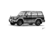 Galloper Prints - Hyundai Galloper II Print by Shak Sam