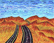 Strip Mixed Media - I - 15 Nevada To California by Carl Deaville