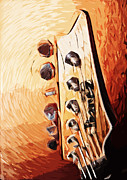 Guitar Headstock Framed Prints - I - banez Framed Print by Tilly Williams