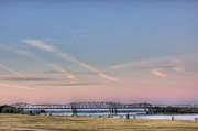 Barry Jones Metal Prints - I-55 Bridge Over the Mississippi Metal Print by Barry Jones