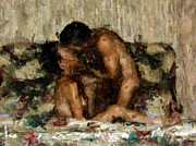 Nude Couple Digital Art - I Adore You by Kurt Van Wagner