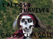 Jose Gasparilla Posters - I Almost Survived Poster by David Lee Thompson
