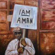 Emery Franklin Metal Prints - I Am A Man Metal Print by Emery Franklin