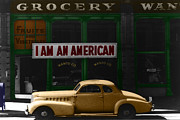 Grocery Store Prints - I Am An American Print by Andrew Fare