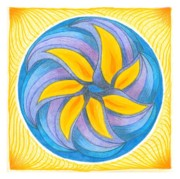 Circle Pastels Originals - I Am Blossoming by Ulla Mentzel