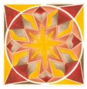 Circle Pastels Originals - I am Centered in the Now by Ulla Mentzel