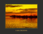Self Help Posters - I Am Creative Poster by Donna Corless