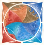 Circle Pastels Originals - I Am Expanding by Ulla Mentzel