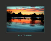 Sunset Posters Posters - I Am Grateful Poster by Donna Corless